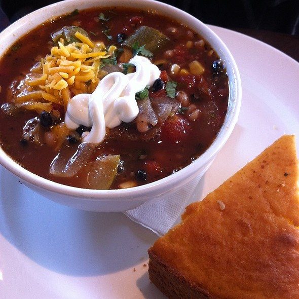 Vegetarian Chilli With Corn Bread @ Zanzibar Cafe