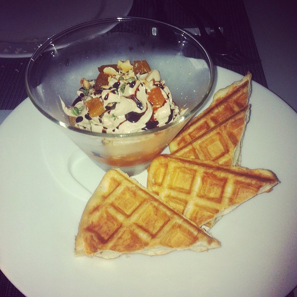 Foie Gras Sundae W/Brioche Waffle @ Ensemble Restaurant