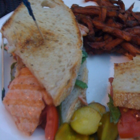 Salmon BLT Sandwich @ Grizzly Peak Brewing Company