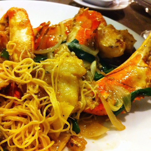 Ginger Scallion Dungeness Crab On Noodles @ Koon Lock Restaurant
