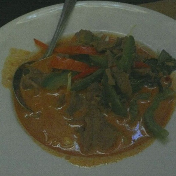 Red Curry With Beef At Thai Patio Hollywood