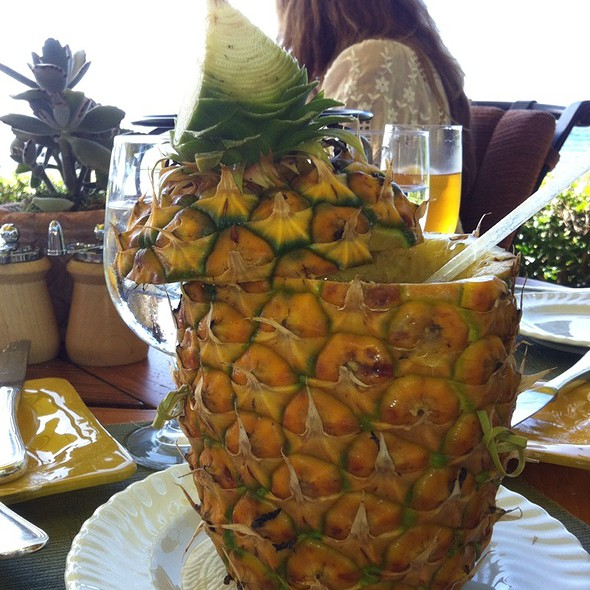 Mango Smoothie Inside A Pineapple  @ Duo