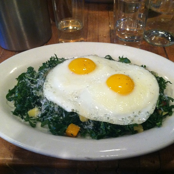 Kale Salad with Baked Eggs @ Northern Spy Food Co.