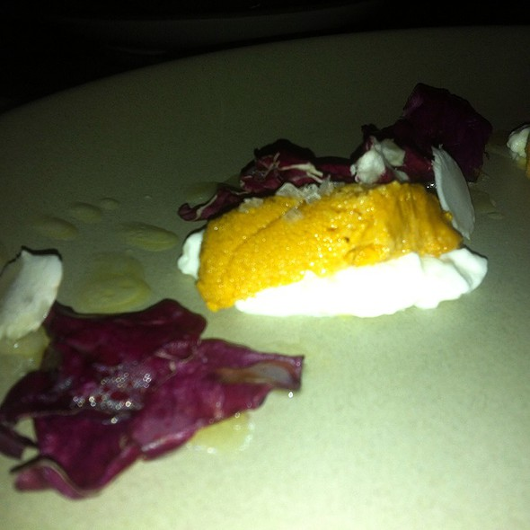 Uni, Burrata, Racicchio, And Yuzu @ Son Of A Gun
