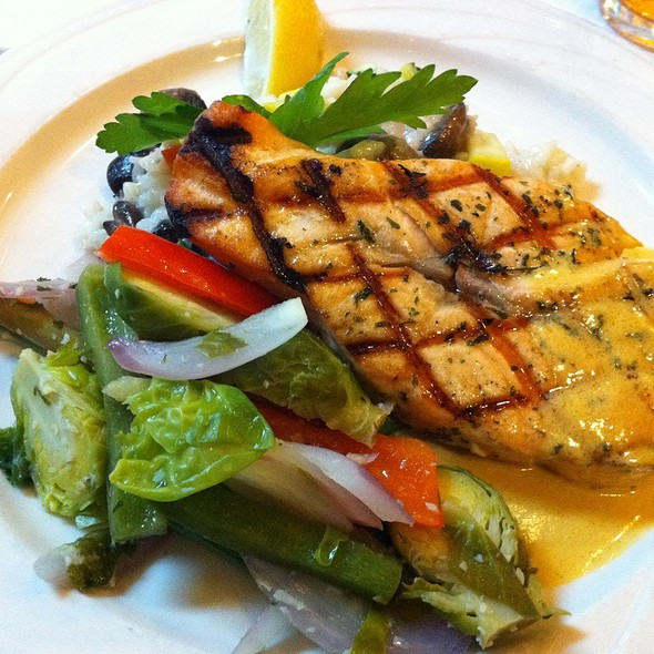 Grilled Salmon @ Hawgs Seafood Bar
