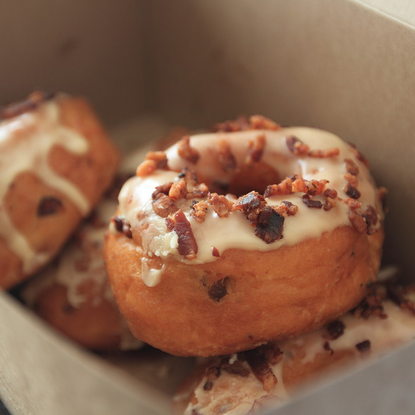 Maple Glazed Bacon Apple Doughnut