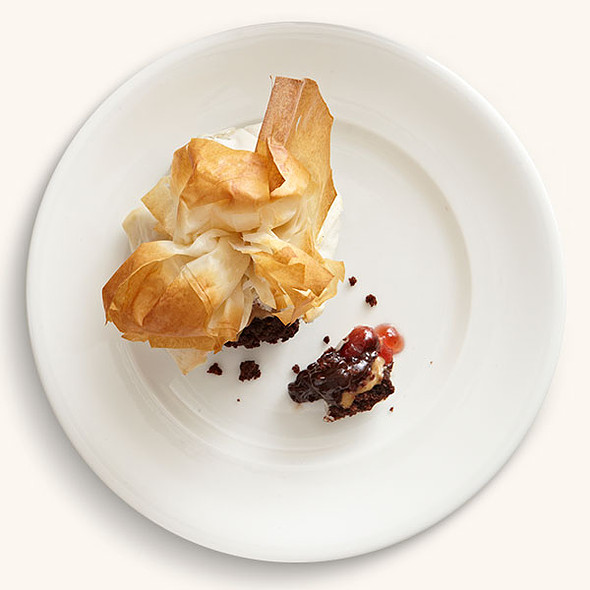 Peanut Butter & Jelly in Phyllo @ Cotton Row Restaurant