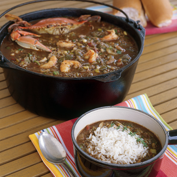 seafood gumbo @ Lulu's At Homeport Marina