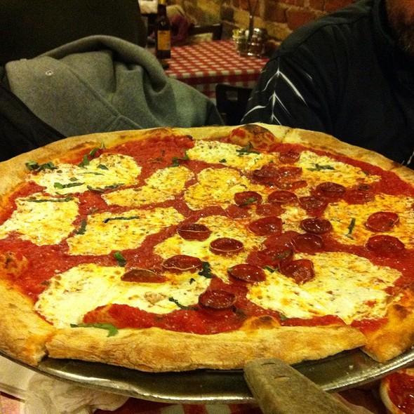 1/2 Pepperoni, 1/2 Plain @ Lombardi's Pizza