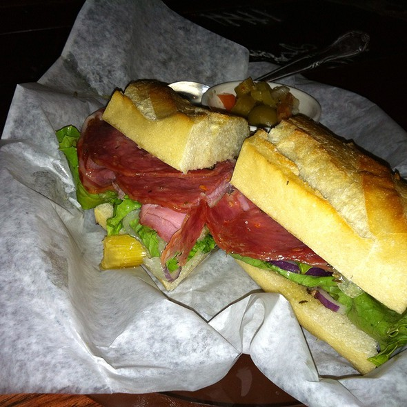 spicy italian sandwich @ Civil Life Brewing Co