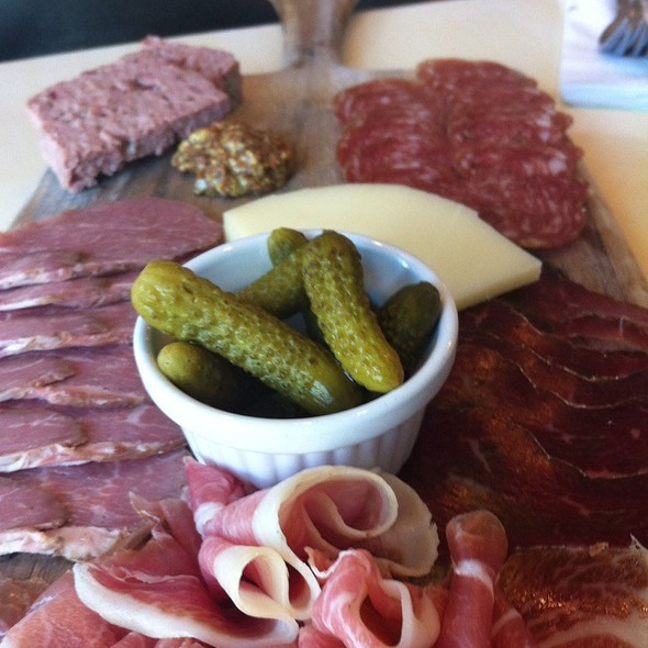 Charcuterie plate @ St James Cheese Company
