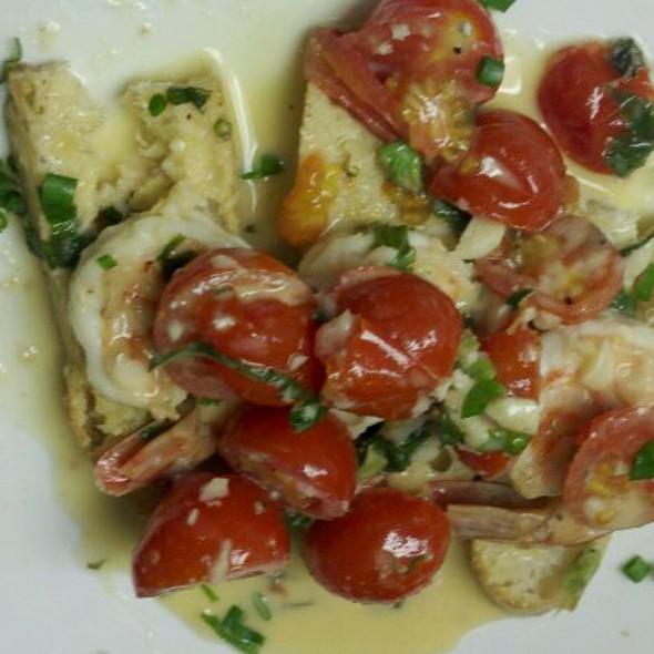 Shrimp Scampi Crostinis @ 88 Wharf Riverfront Grill