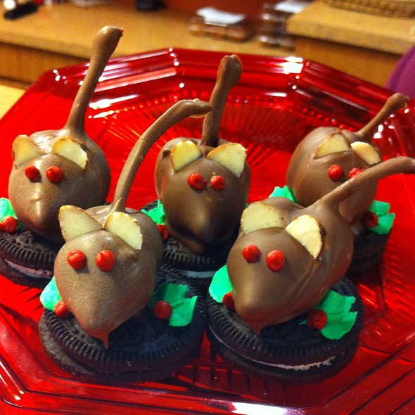Chocolate Covered Cherry Mice @ Country Cupboard