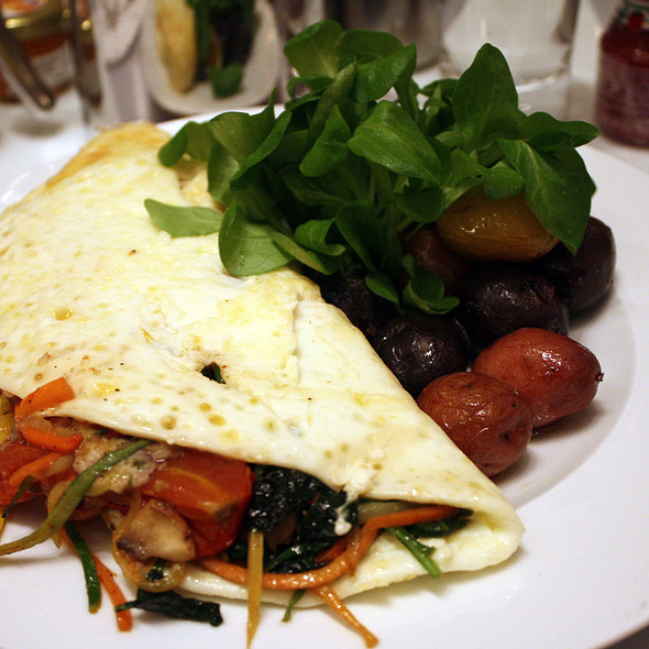 Egg White Omlette @ Norma's at Le Parker Meridien Hotel