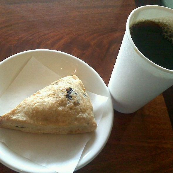 Coffee And Blueberry Scone @ B's Coffee House