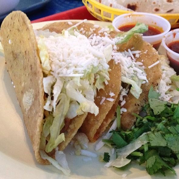 Three Carne Tacos @ Las Cuatros Milpas
