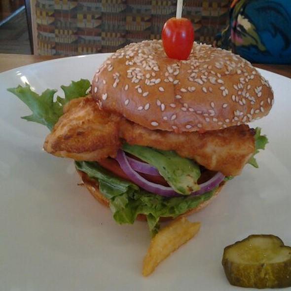 Mahi Mahi sandwich - Woodlands American Grill, Dallas, TX