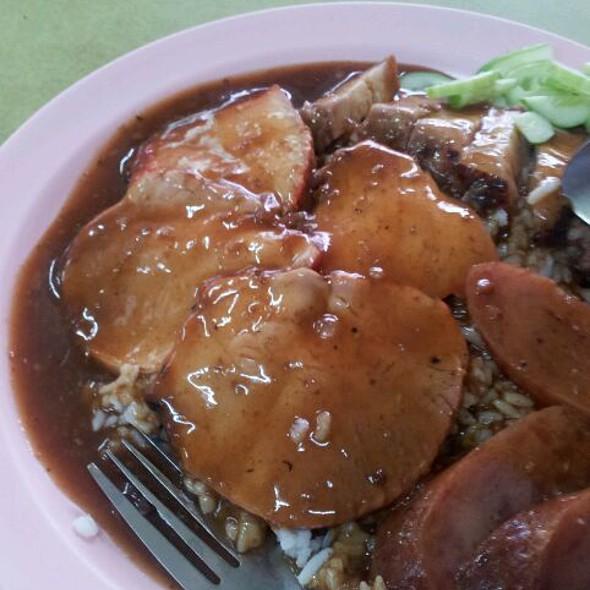 ข้าวหมูแดงพิเศษ|| special bbq pork @ สีมรกต