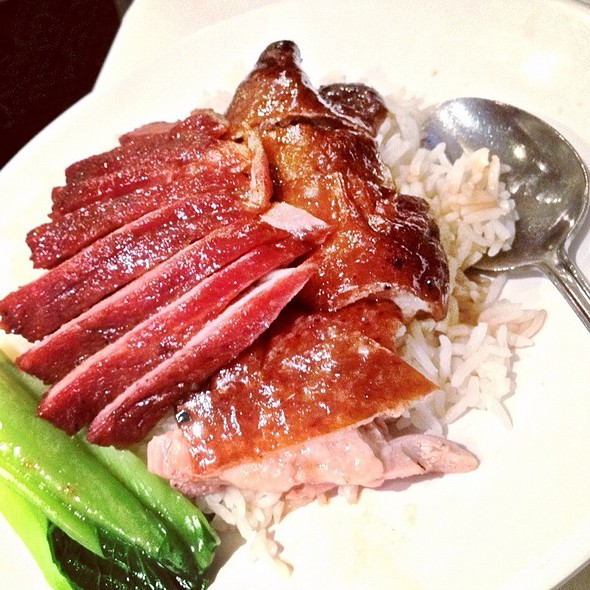 Roast Duck And Honey Bbq Pork With Rice @ golden dragon