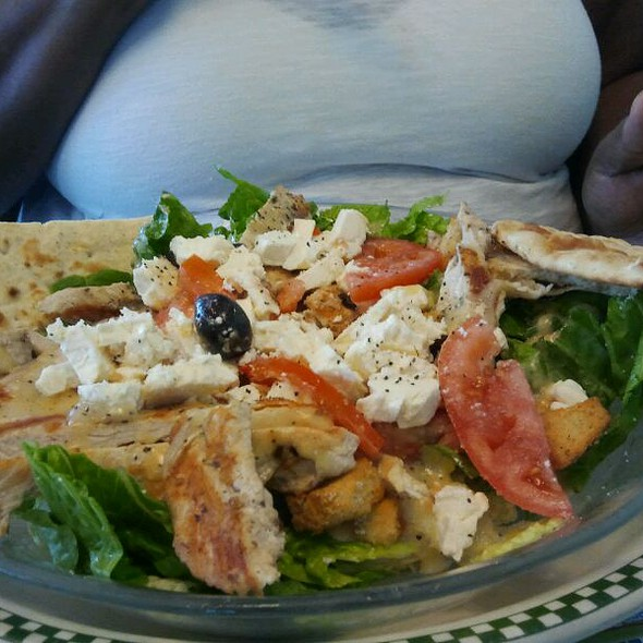 grill chicken cesar salad with feta @ Double T Diner