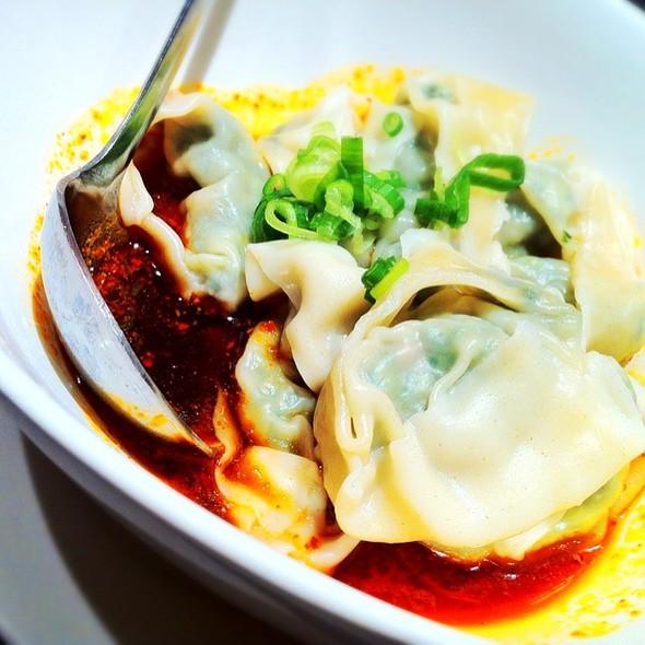 ... & Pork Wonton With Spicy Sauce at Din Tai Fung Dumpling House
