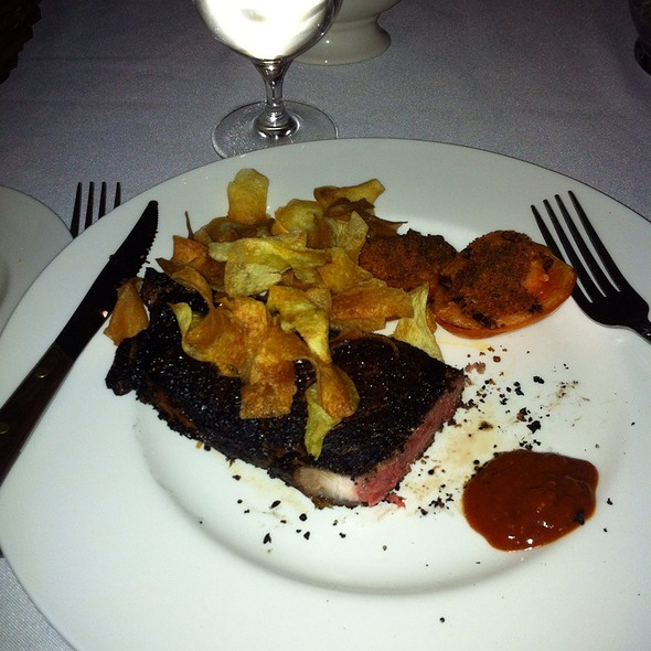 """13 Oz Ny Strip Cooked """"Pittsburgh"""" Medium Rare - The Grand Oak Steakhouse and Bar, Beaumont, CA"""