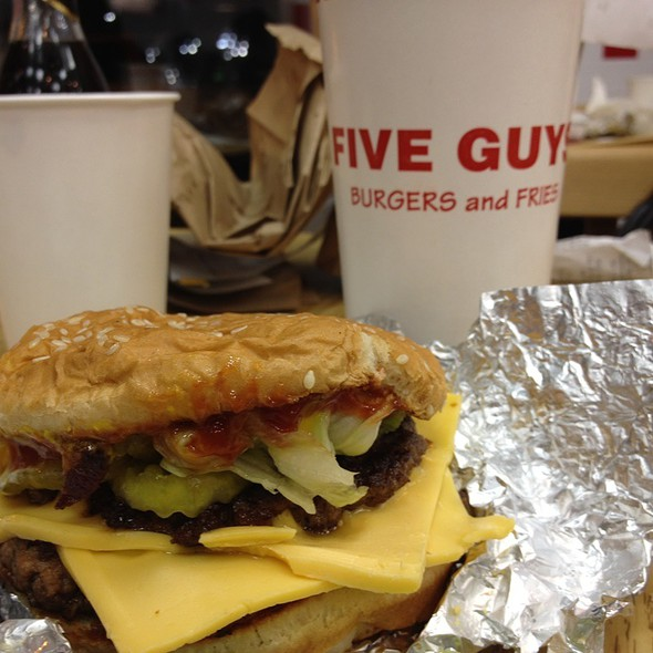 cheeseburger and cajun fries @ Five Guys