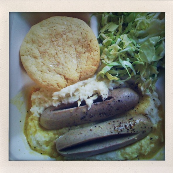 Bratwurst & Mashed Potatoes @ The Sentinel