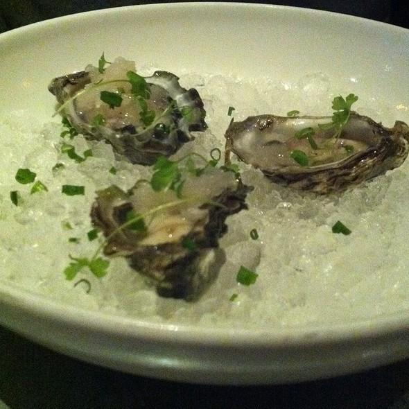 Kumamoto Oysters With Prosecco And Horseradish Granita @ No 246