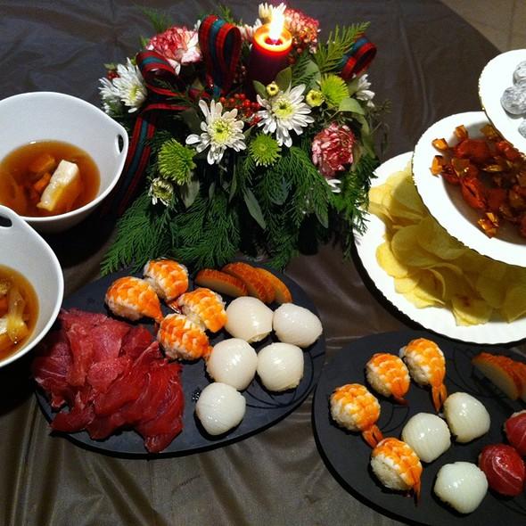 Sushi & Ozoni Dinner @ Home