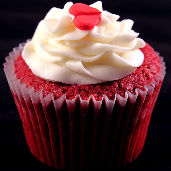Stuffed Red Velvet Cupcake @ Simply Cupcakes