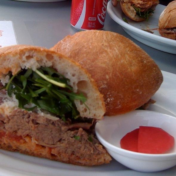 Beef Brisket Sandwich @ Il Cane Rosso