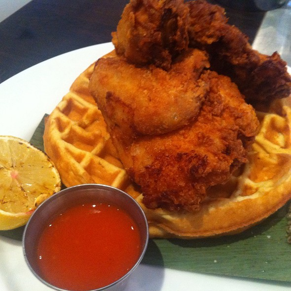 Fried Chicken & Waffles @ Cafeteria