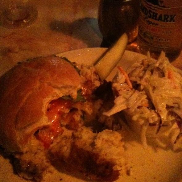 Crab Cake Sandwich @ Solomon's Pier Restaurant