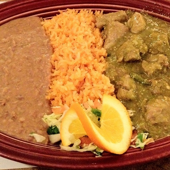 Chile Verde Plate @ La Mission Restaurant
