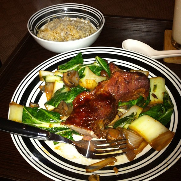 Teriyaki Country Style Pork Ribs With Bok Choy, Mushrooms, Brown Rice @ My Kitchen