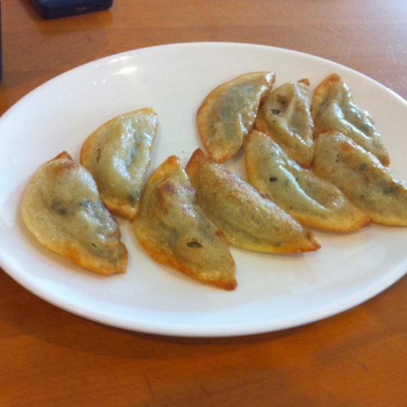 Pan Fried Potstickers @ Hodori Korean Restaurant