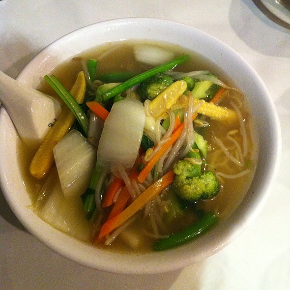 Mixed Vegetables With Noodles And Soup @ Westlake Restaurant
