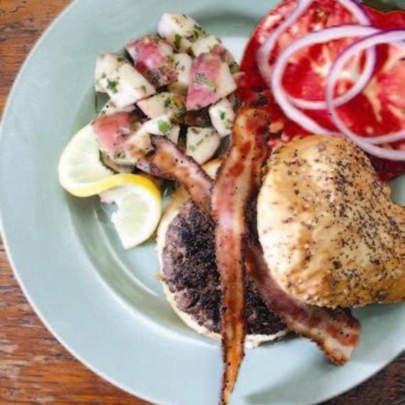 Lugar Burger w/ New Potato Salad @ FARMbloomington Restaurant
