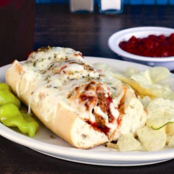 Meatball Sub @ The Historic Steer-In