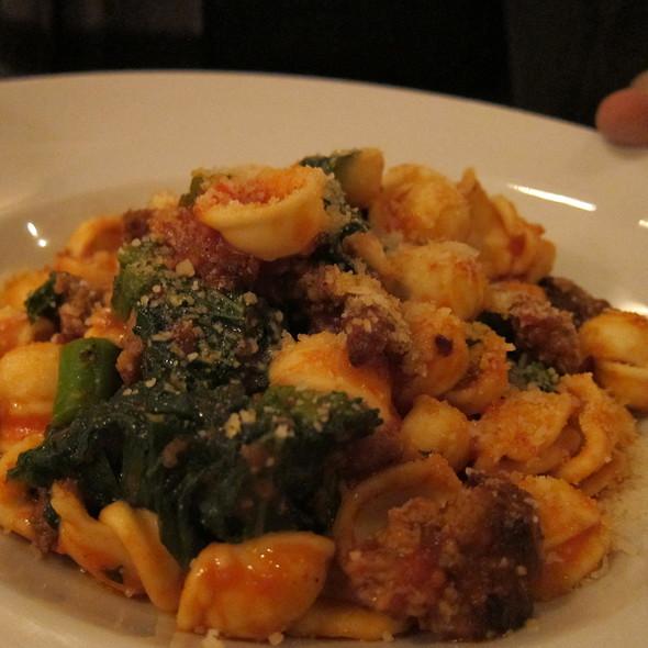 Orecchiette Pasta With Spicy Italian Sausage. @ Tulio Ristorante