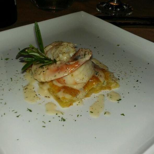 Sauteed Garlic Prawns With Beurre Blanc And Puff Pastry  - LeVilla Restaurant, Calgary, AB
