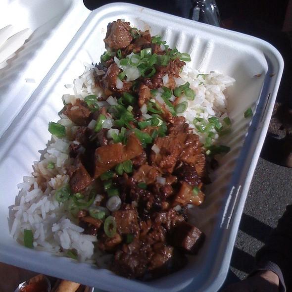 Pork Sisig Over Rice