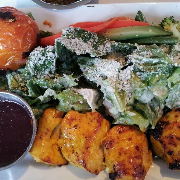Chicken (Free Range) Kabob With Salad & Vegetables  - Pomegranate Restaurant, Walnut Creek, CA
