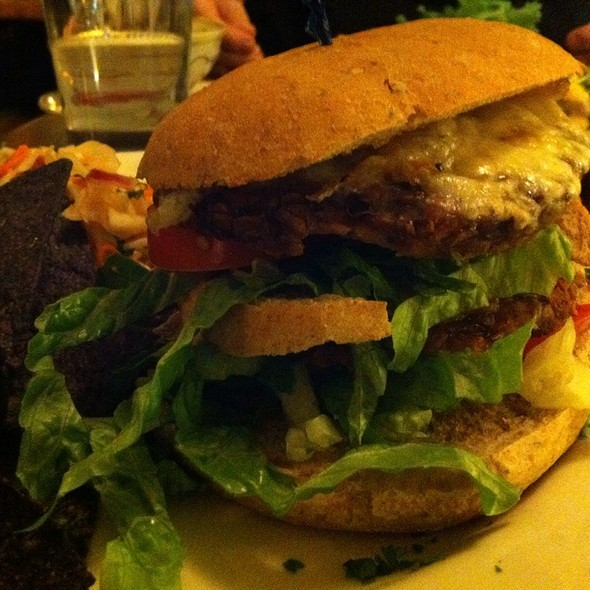 The Big Baprawski Burger @ Inn Season Cafe Exotic to Traditional Vegetarian Cuisine