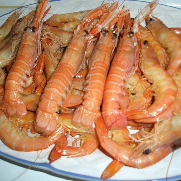 Crayfish and king prawns
