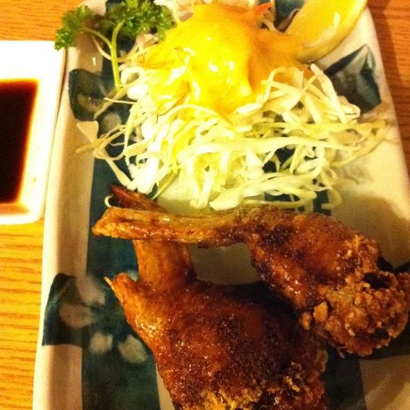 Crispy Fried Chicken Wings Stuffed With Gyoza  Filling @ Maekawa Bar