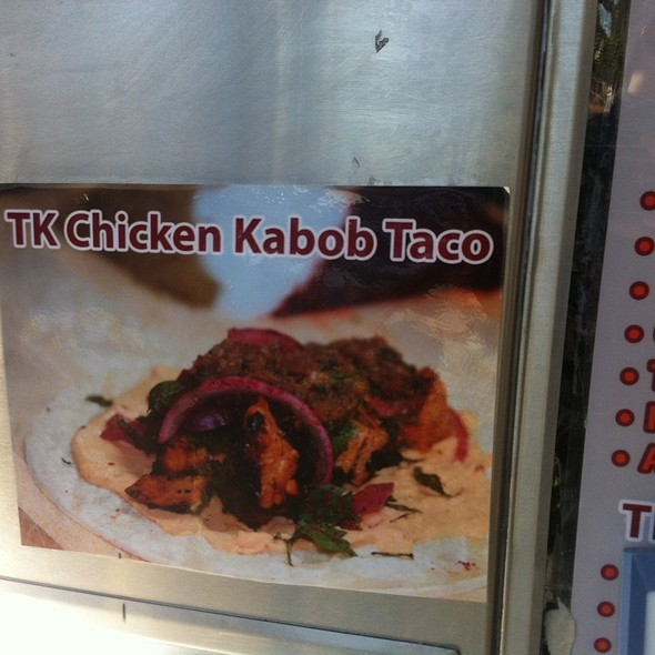Chicken And Beef Spicy Kebab Tacos @ TK Truck