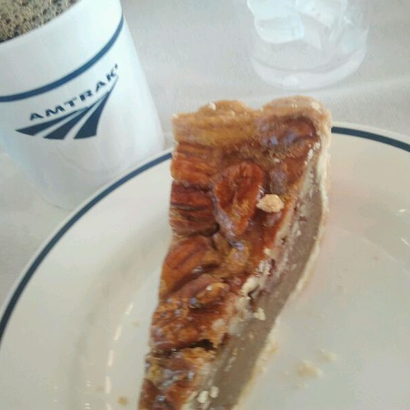 Bourbon Pecan Pie @ Amtrak Train Cafe