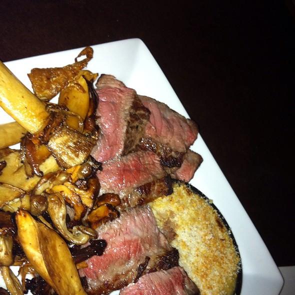 Piedmontese Beef Strip Steak, Wild Mushrooms, And Celery Gratin - Bigelow Grille, Pittsburgh, PA